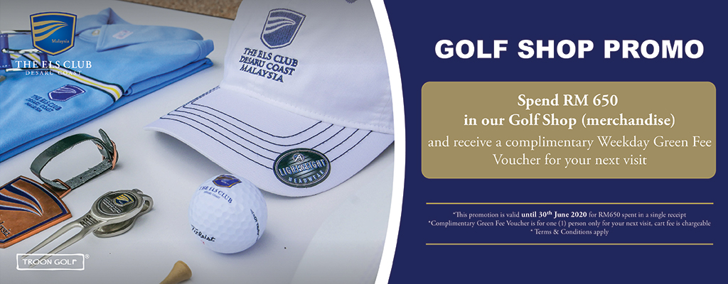 golf shop promotion