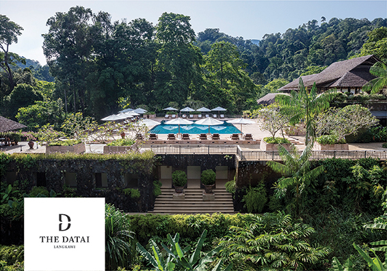 The pool area at The Datai resort on Langkawi Island
