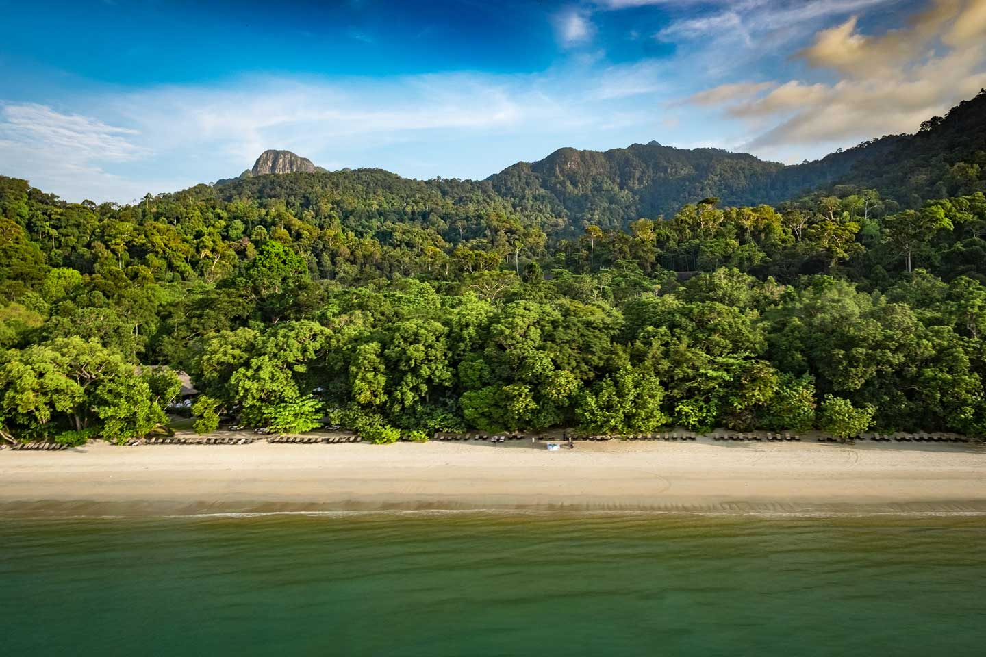 The shore of Datai Bay on Langkawi Island